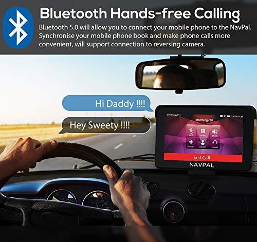 SLIMLINE SAT NAV,7 Inch with Bluetooth + 2019 World Maps [Pre-Installed] on sat prep book, sat score chart 2014, sat cartoon,