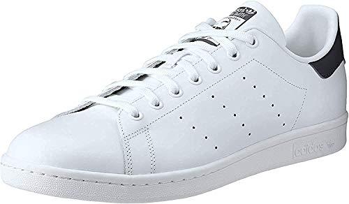 adidas Men's Originals Stan Smith Sneaker, White/White/Dark Blue, 8.5 M US