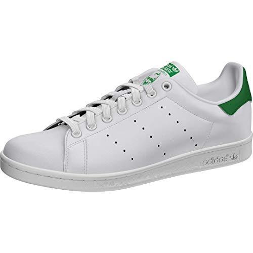adidas Originals Men's Stan Smith Leather Trainers, White Running White FTW Running White Fairway, 7.5 UK