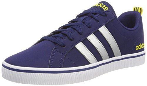 adidas Vs Pace,Men's Low Top Gymnastics,Blue (8.5 UK, Blue (Dark Blue/Silver Metallic/Shock Yellow 0))