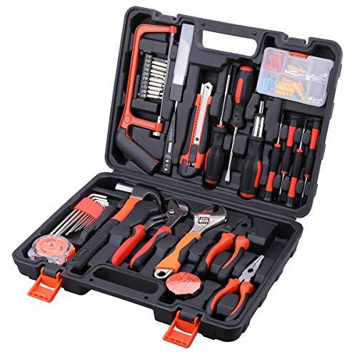 AWANFI Tool Kit 100 Piece DIY Home Household Toolkits for Daily Repair and Maintenance