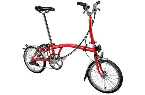 Brompton M6L 2019 Folding Bike (Red)