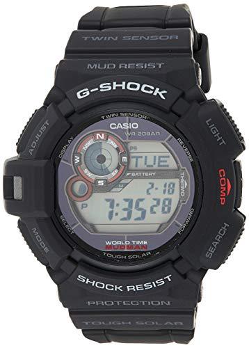 Casio G-SHOCK Men's MUDMAN Tough Solar Digital Thermo Sensors Watch G-9300-1ER with Resin Strap