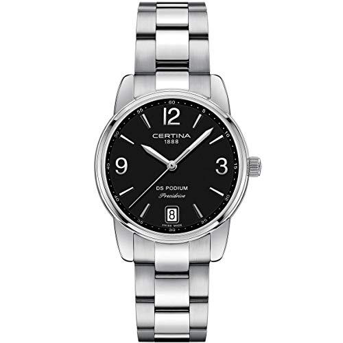 Certina Women's DS Podium 33mm Steel Bracelet Quartz Watch C034.210.11.057.00