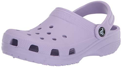 Crocs Classic Adults T-Bar Pumps, Purple (Lavender), 6 UK Men/7 UK Women