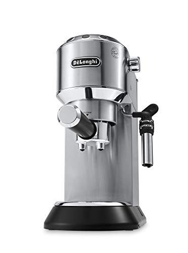 De'Longhi Dedica Style, Traditional Barista Pump Espresso Machine, Coffee and Cappuccino Maker, EC685M, Silver