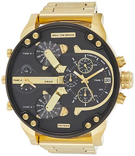 Diesel Men's Watch DZ7333 (One Size, Multicolour/Gold)