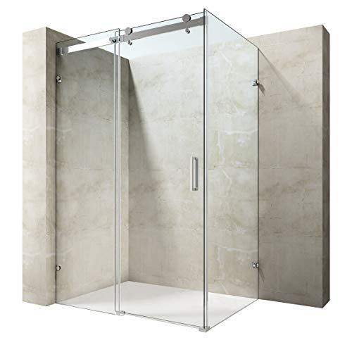 Durovin Bathrooms L Shape Square Frameless Shower Enclosure