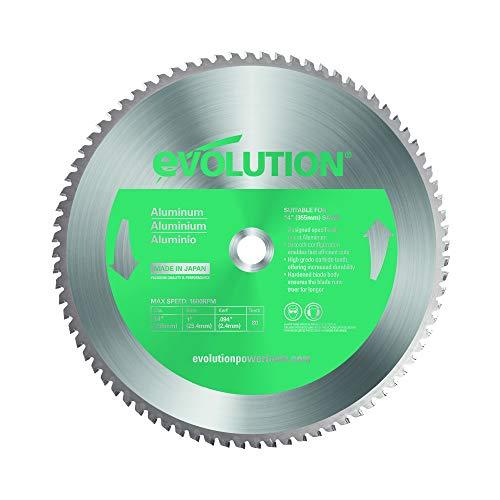 Evolution Power Tools Aluminium Carbide-Tipped Blade, 355 mm