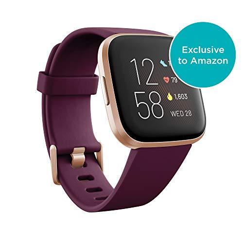Fitbit Versa 2 Health & Fitness Smartwatch with Voice Control,Sleep Score & Music,Bordeaux