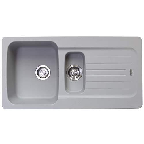 Franke Aveta 1.5 Bowl Stone Grey Composite Reversible Kitchen Sink & Waste kit