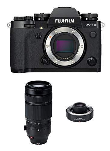 Fujifilm X-T3 Mirrorless Digital Camera, Black with Fujinon XF 100-400mm F4.5-5.6 R LM Optical Image Stabiliser, Weather Resistant Lens and Teleconverter XF1.4x Lens Bundle