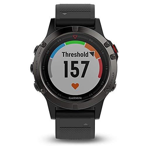 Garmin Fenix 5 Sapphire GPS Multisport Smartwatch Black 010-01688-11 (Renewed)