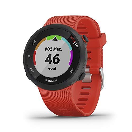Garmin Forerunner 45 GPS Running Watch with Garmin Coach Training Plan Support - Lava Red, Large