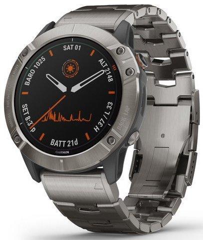Garmin fēnix 6X Pro Solar Titanium Watch