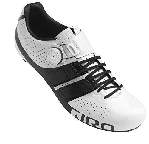 Giro Factor Techlace Road, Men Cycling Shoes Cycling Shoes, White/Black,9 (43.5 EU)