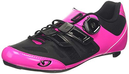 Giro Women's Raes Techlace Road Cycling Shoes, Bright Pink/Black, 6 UK 39 EU