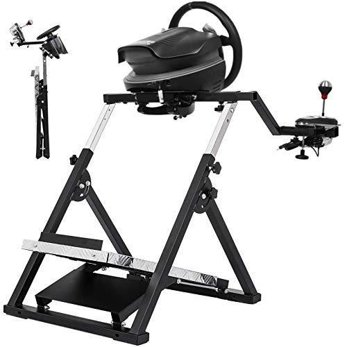 Hopopular Racing Steering Wheel Stand Black Racing Simulator Steering Wheel Stand for F458 Spider (T80/T100/RGT/Ferrari GT/F430 Logitech Stable Black(G27 G29 PS4 G920 T300RS 458))