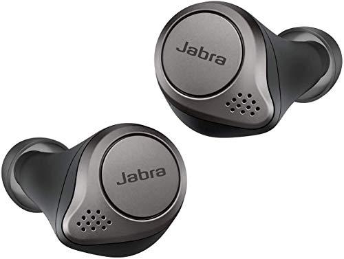 Jabra Elite 75t True Wireless Bluetooth Earbuds, with Charging Case, 4th generation, 28 Hours Battery, Alexa Built-in, Titanium Black