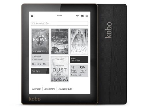 Kobo Aura N514-KU-BK-K-EP E-Ink 15.2 cm (eBook Reader ARM Processor 1.1 GHz 500 MB RAM 4 GB HDD No Operating System Touchscreen Black)