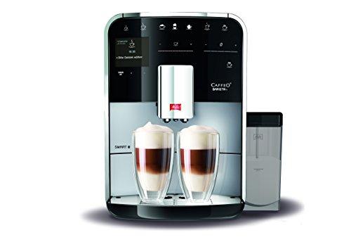 Melitta Barista T SMART F83/0-101,Bean to Cup Coffee Machine, Bluetooth connectivity, Melitta Connect App, Whisper Grinder (Quiet Mark),Silver