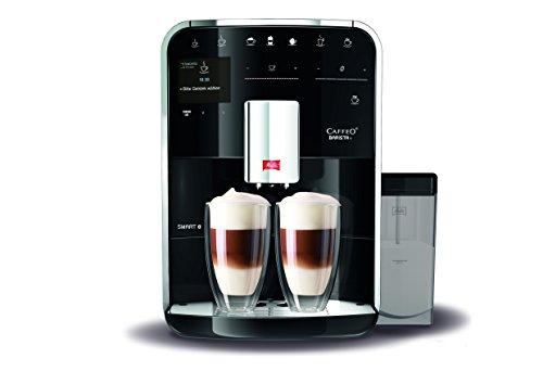 Melitta Barista TS SMART F85/0-102,Bean to Cup Coffee Machine, Bluetooth connectivity, Melitta Connect App, Whisper Grinder (Quiet Mark),Black