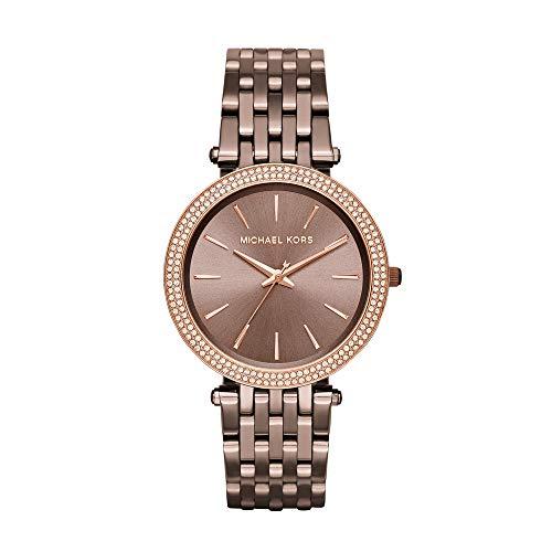 Michael Kors Women's Watch MK3416, Brown (Bronze)