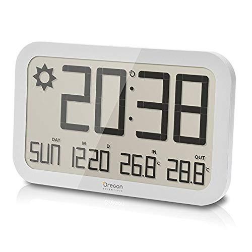 Oregon Scientific Jumbo Weather Wall Clock (JW108, White)