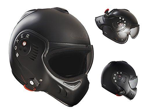 ROOF Helmet Boxer V8,Matt Black,Size SM