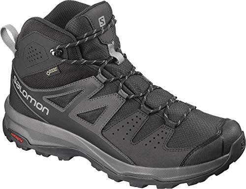 Salomon Men's Hiking Boots,X Radiant MID GTX,Phantom/Magnet/Monument,Size: 7.5