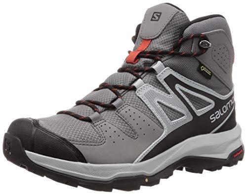 Salomon Men's Hiking Boots,X Radiant MID GTX,Quiet Shade/Quarry/Bossa Nova,Size: 10