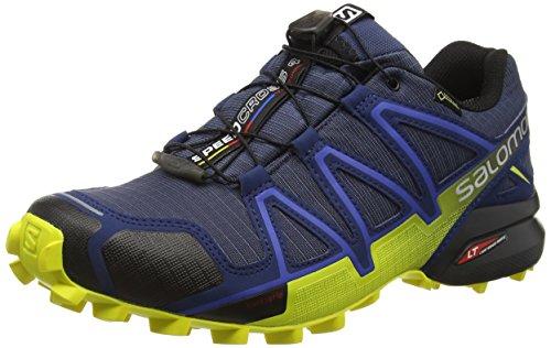 Salomon Men's Speedcross 4 GTX Trail Running Shoes,Blue (Slateblue/Blue Depth/Corona Yellow),7.5 UK (41 1/3 EU)