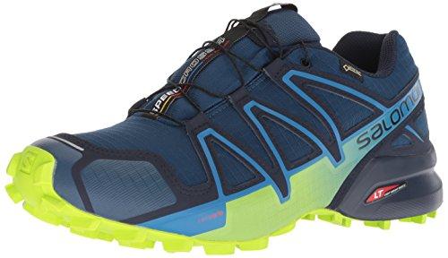 Salomon Men's Speedcross 4 GTX Trail Running Shoes,Blue (Poseidon/Navy Blazer/Lime Green),8 UK (42 EU)