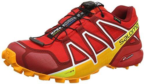Salomon Men's Speedcross 4 GTX Trail Running Shoes,Red (Fiery Red/Red Dalhia/Bright Marigold),8 UK (42 EU)