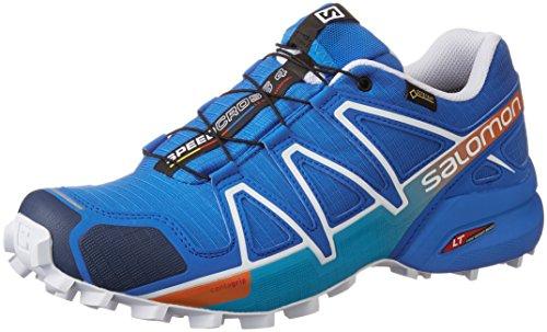 Salomon Men's Speedcross 4 GTX Trail Running Shoes,Blue (Bright Blue/Black/White),10 UK (44 2/3 EU)