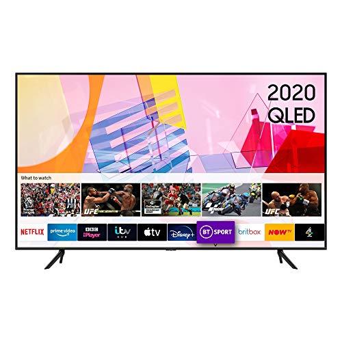 "Samsung 2020 50"" Q60T QLED 4K Quantum HDR Smart TV with Tizen OS Black (50 inch)"