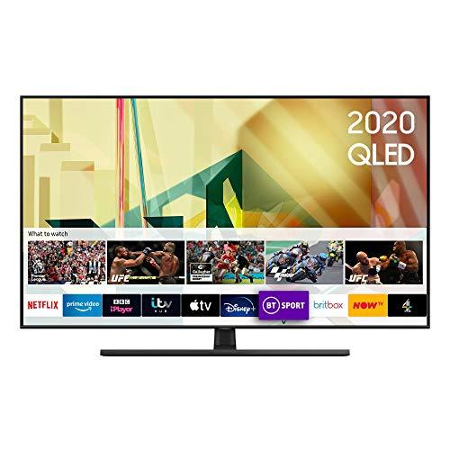 "Samsung 2020 55"" Q70T QLED 4K Quantum HDR Smart TV with Tizen OS Black (55 inch)"