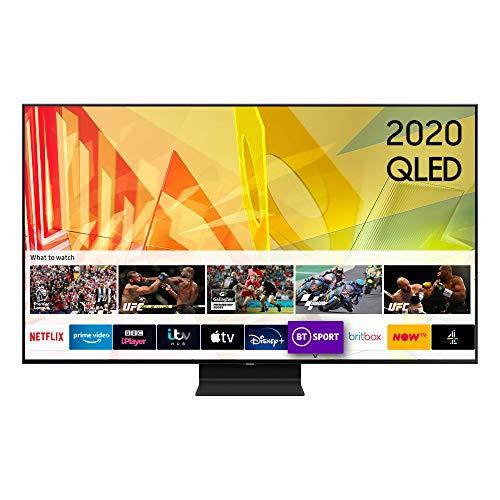 """Samsung 2020 65"""" Q90T Flagship QLED 4K HDR 2000 Smart TV with Tizen OS Black"""