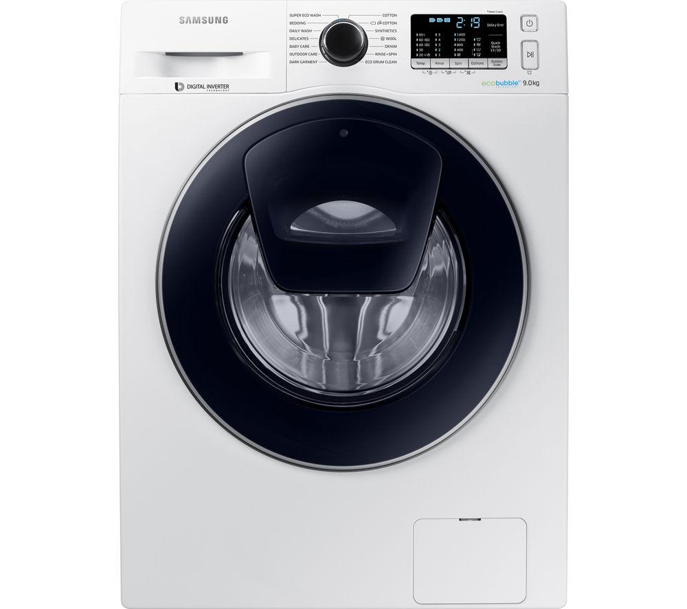 SAMSUNG AddWash WW90K5410UW Washing Machine - White, White
