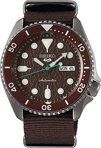Seiko Men's Analogue Automatic Watch with Cloth Strap SRPD85K1 (Brown, Sense)