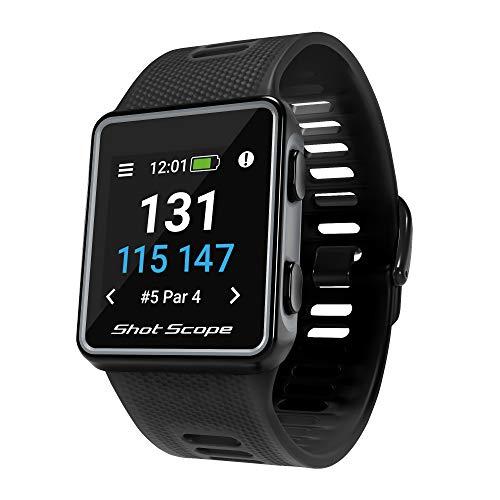 Shot Scope V3 GPS Golf Watch, Black, One Size