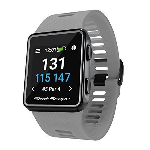 Shot Scope V3 GPS Golf Watch, Grey, One Size