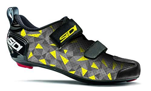 Sidi Shoes T-5 Air, Scape Cycling Men, Grey Yellow Black, 47 (11 UK, Grigio Giallo Nero)
