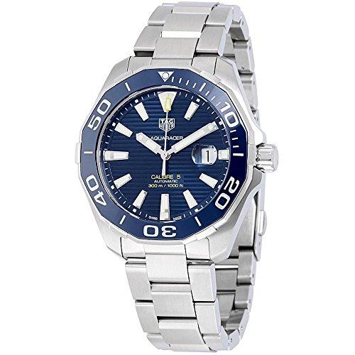 TAG Heuer Men's Aquaracer 43mm Steel Bracelet & Case Automatic Blue Dial Analog Watch WAY201B.BA0927