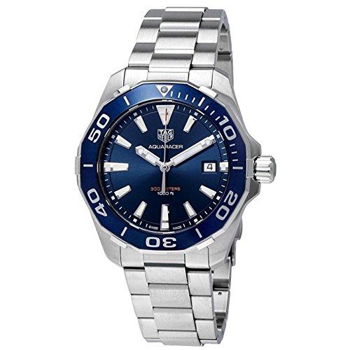 TAG Heuer Men's Steel Bracelet & Case Sapphire Crystal Swiss Quartz Blue Dial Analog Watch WAY111C.BA0928