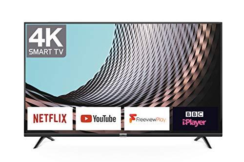 TCL 55DP628 55-Inch 4K UHD Smart TV - HDR10 / Freeview Play / BBC iPlayer / Netflix 4K / YouTube 4K, Work with Alexa, Wi-Fi,3*HDMI, 2*USB Port [Energy Class A+] Black