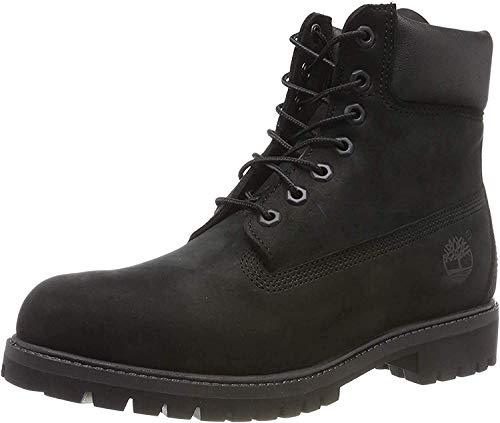 Timberland Men's 6 Inch Premium Waterproof Lace up Boots, Black Nubuck, 7.5 UK