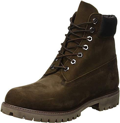 Timberland Men's 6 Inch Premium Waterproof Lace up Boots, Dark Chocolate Nubuck, 7 UK