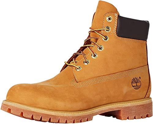 Timberland Men's 6 Inch Premium Waterproof Lace up Boots, Wheat Nubuck, 17.5 UK