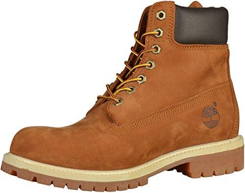 Timberland Men's 6 Inch Premium Waterproof Lace up Boots, Rust Nubuck, 8 UK